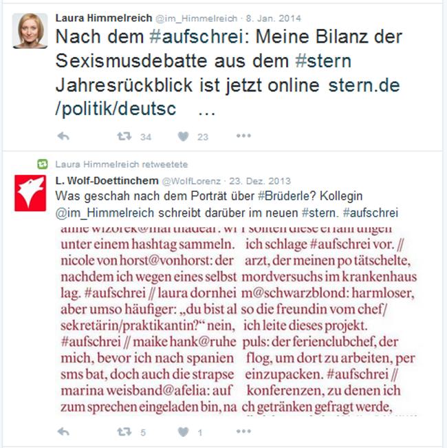 Screenshot #Aufschrei 1