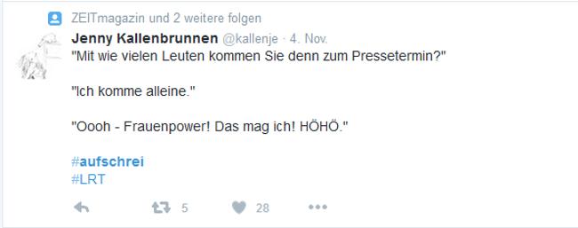 Screenshot #Aufschrei 2