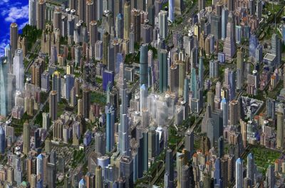 Sim City 4 Zoom out (adapted) (Image by haljackey [CC BY 2.0] via flickr)