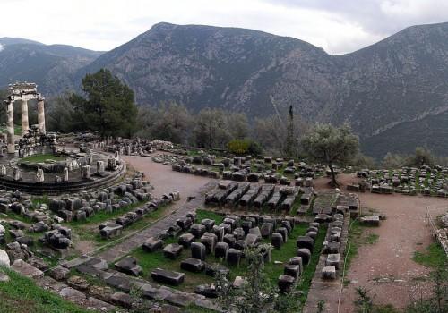Athina Pronaia Sanctuary at Delphi (Image: Luarvick [CC BY-SA 3.0], via Wikimedia Commons)