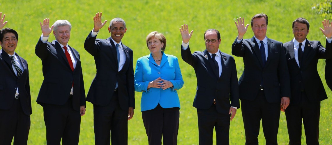 G7 Summit 2015 (Image by blu-news.org [CC BY-SA 2.0], via Wikimedia Commons)