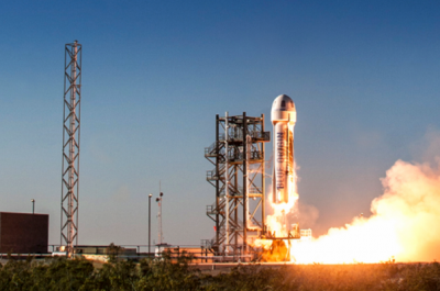 Raketenstart (Image by Blue Origin)
