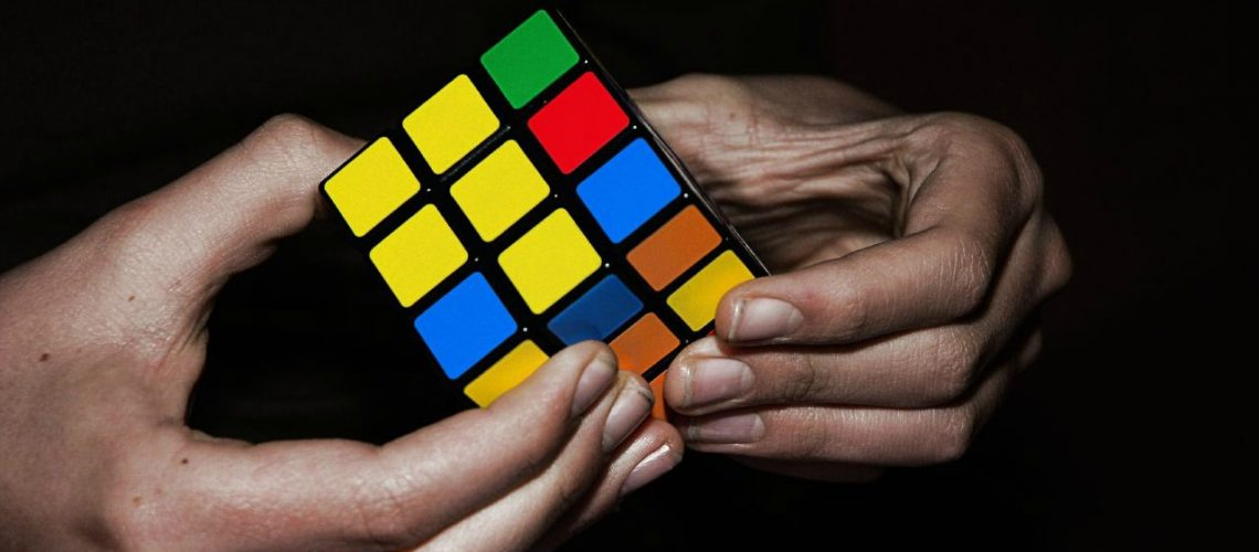 Rubik cube (adapted) (Image by theilr [CC BY-SA 2.0] via flickr)