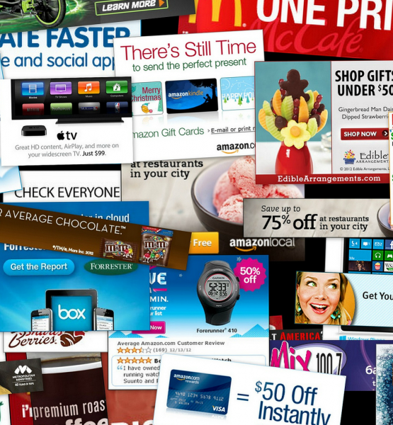 Half an hour of web ads (adapted) (Image by Daniel Oines [CC BY 2.0] via flickr)