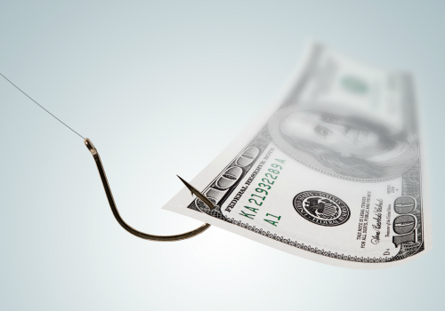 Money on a Hook (adapted) (Image by Tax Credits [CC BY 2.0] via flickr)