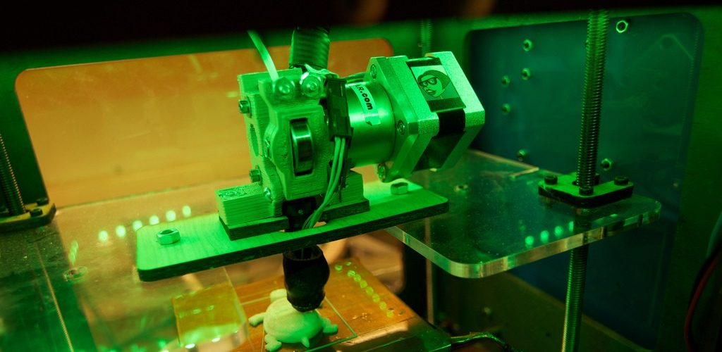 3D Printer at the Fab Lab (adapted) (Image by Keith Kissel [CC BY 2.0] via Flickr)