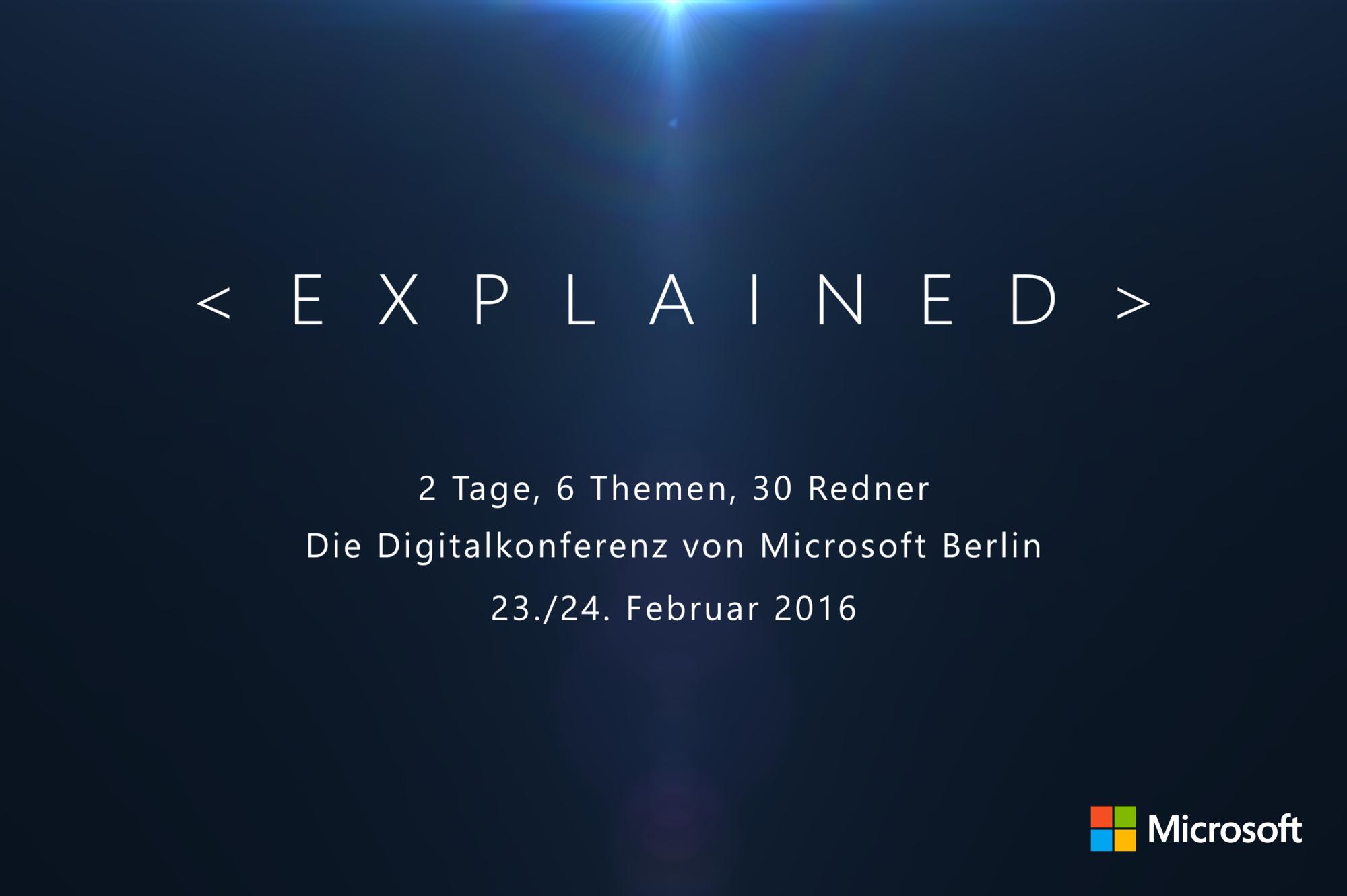 EXPLAINED von Microsoft Berlin