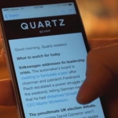 Quartz Screenshot (Image: Quartz)