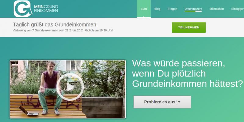 Screenshot (Image: Mein Grundeinkommen.de).