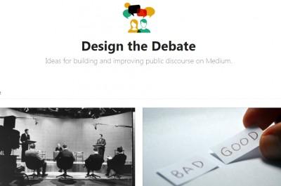 Design the Debate (Image by Medium.com via Screenshot)