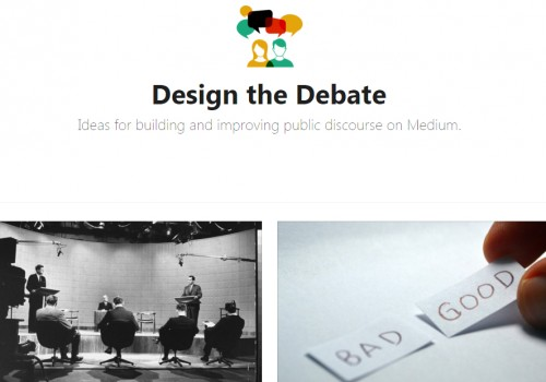 Design the Debate (Image by Medium.com via Screenshot)