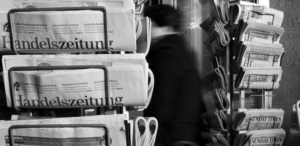 Headlines... (adapted) (Image by Thomas Leuthard [CC BY 2.0] via flickr)