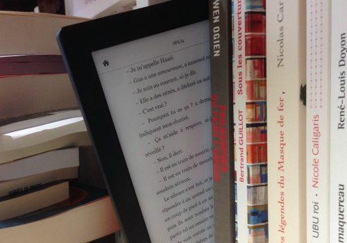 Lecteur ebook + livres papier (adapted) (Image by ActuaLitté [CC BY-SA 2.0] via flickr)