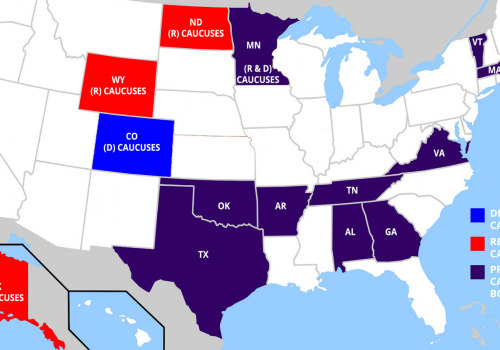 Map of Super Tuesday States 2016 (adapted) (Image by DonkeyHotey [CC BY-SA 2.0] via flickr)