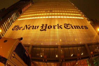 New York Times Building, NYC (adapted) (Image by Torrenegra [CC BY 2.0] via Flickr)