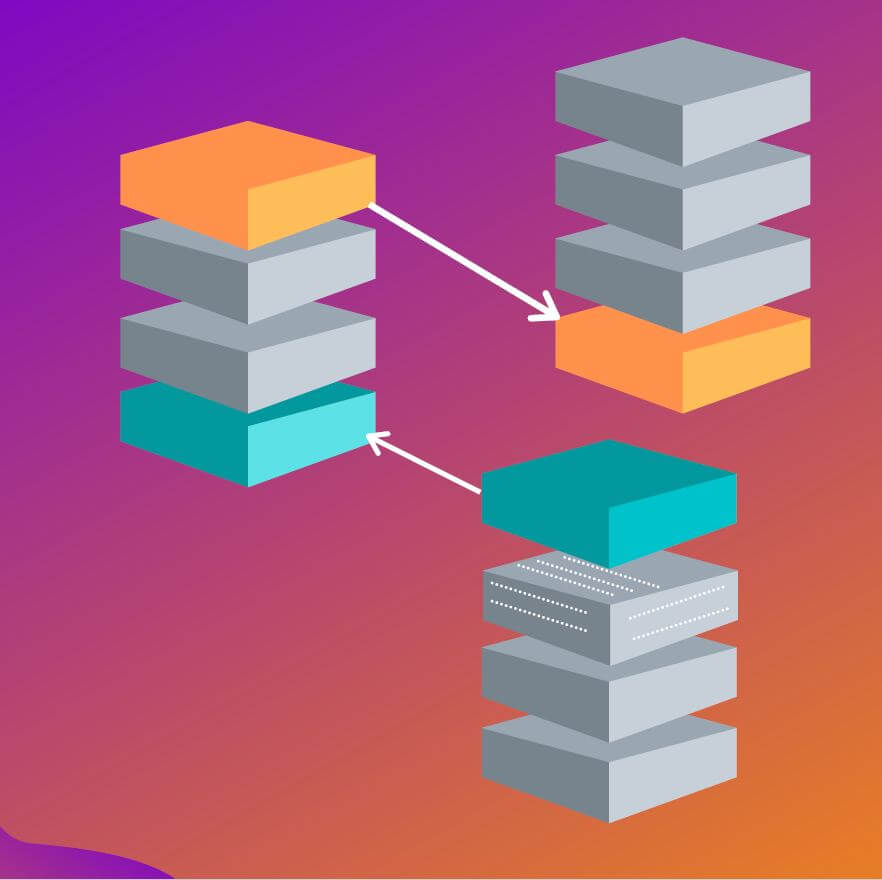 Was ist Blockchain? So sehen die Datensätze visualisiert aus.