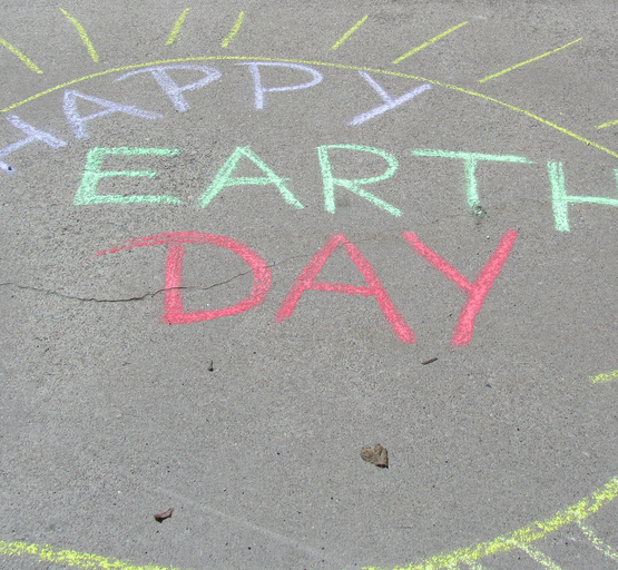 Happy Earth Day (adapted) (Image by Booker Smith [CC BY 2.0] via flickr)