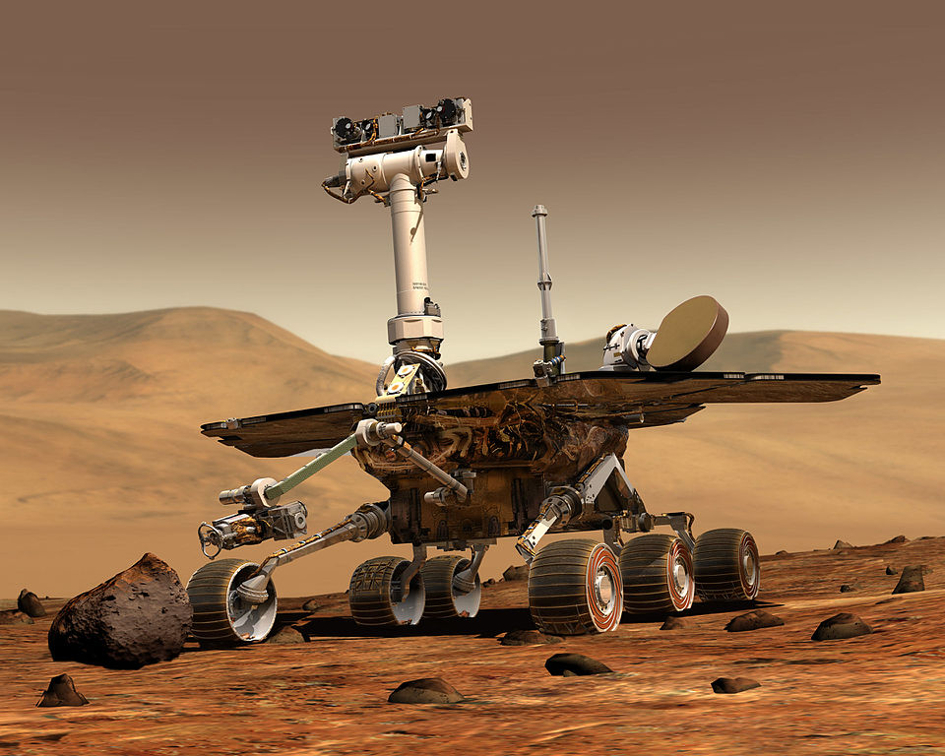 NASA_Mars_Rover (image by NASA JPL Cornell University, Maas Digital LLC (CC0 Public Domaibn) via Wikimedia)