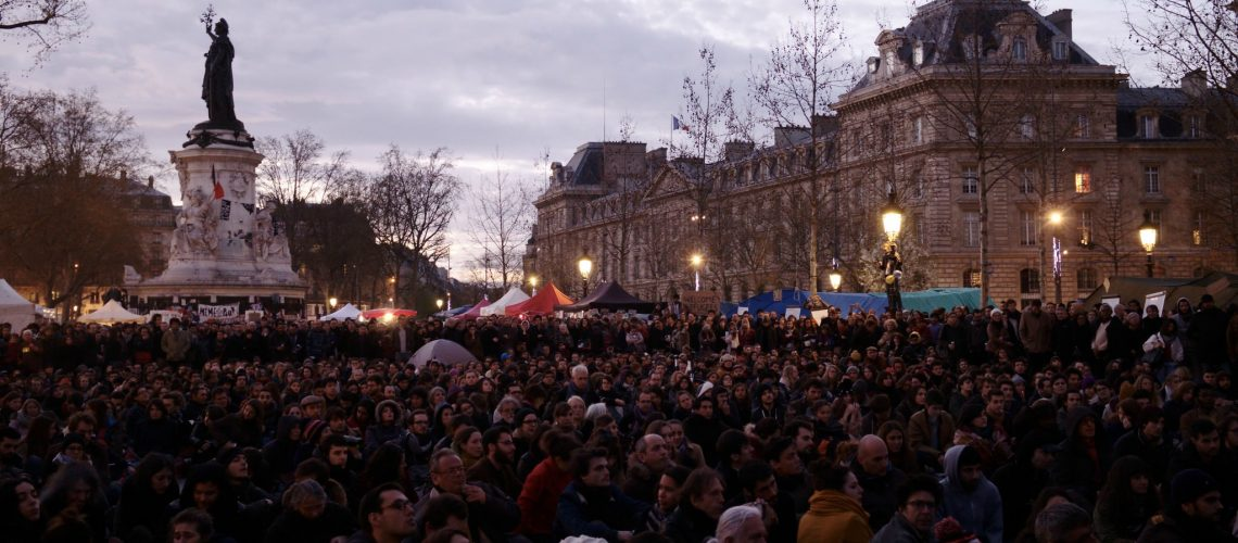 Nuit Debout Paris (adapted) (Image by Nicolas Vigier [CC0 Public Domain] via flickr)