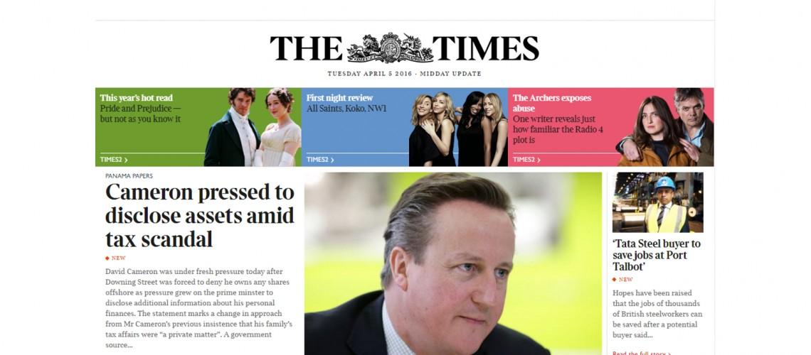 Screenshot The Times