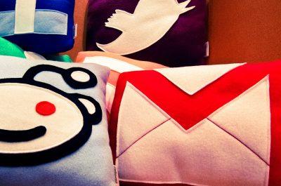 Social Media Pillows (adapted) (Image by Nan Palmero [CC BY 2.0] via Flickr)