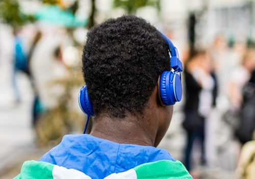 Man with Headphones Ⅱ (adapted) (Image by Sascha Kohlmann [CC by 2.0] via flickr)