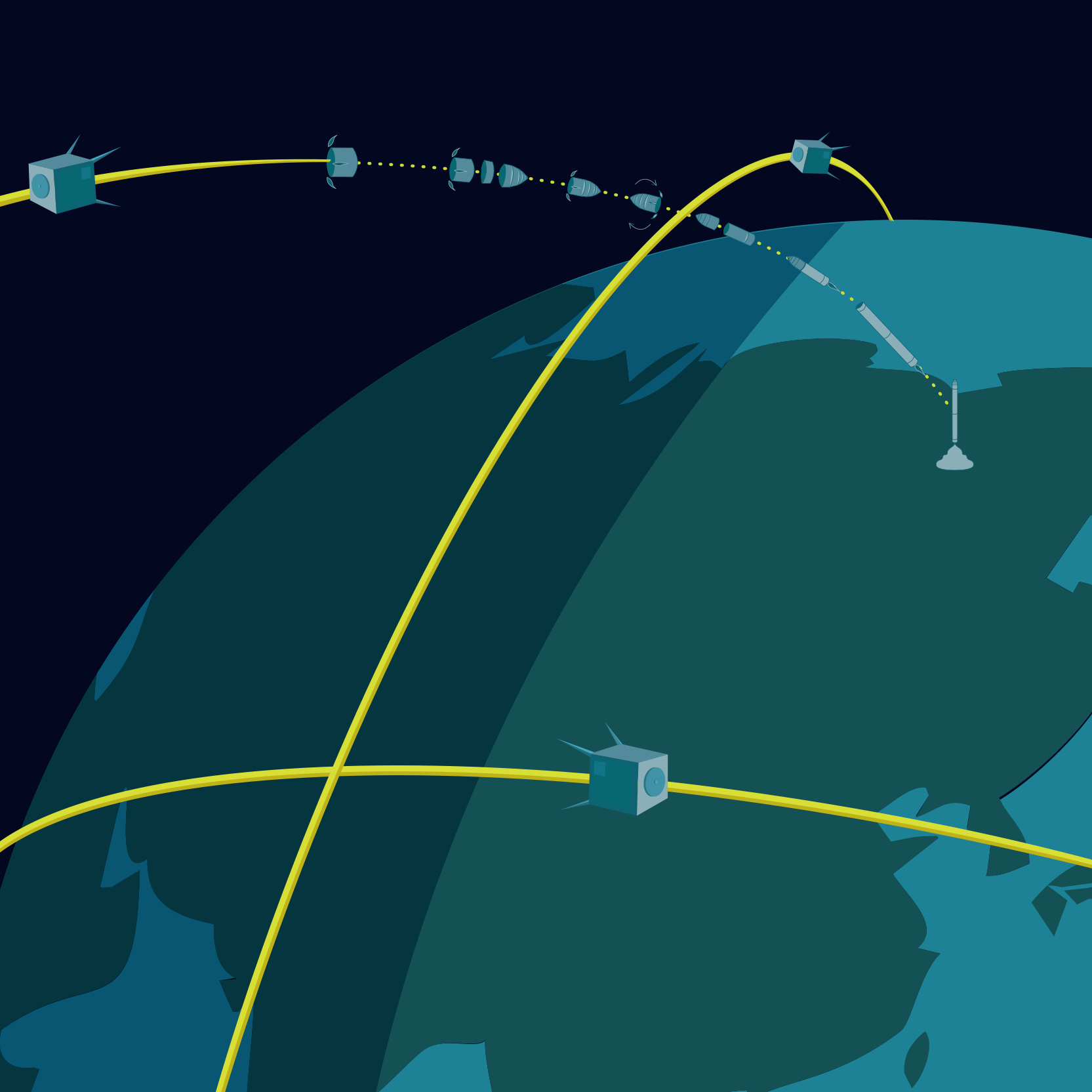 Umlaufbahn Satelliten (Image by Global Star ALE)