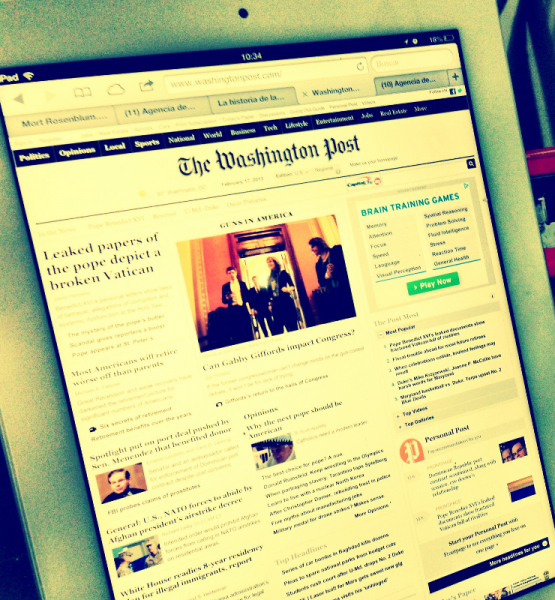 Washington Post (adapted) (Image by Esther Vargas [CC BY-SA 2.0] via Flickr)