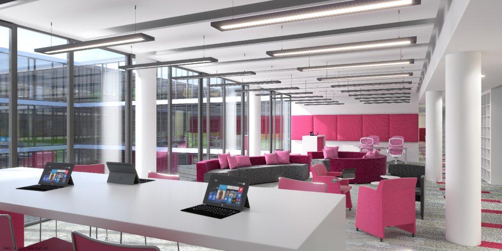 Microsofts neues Büro in München wurde vom Arbeiten in Coworking Spaces inspiriert (Foto: Microsoft)
