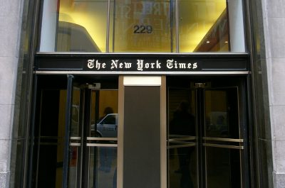 The New York Times building, New York City (Image by Alterego [CC BY 3.0], via Wikimedia Commons)