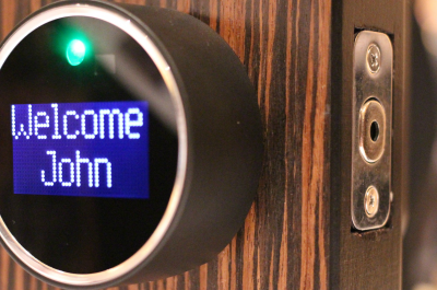 GOJI Smart Lock (adapted) (Image by Maurizio Pesce [CC BY 2.0] via flickr)