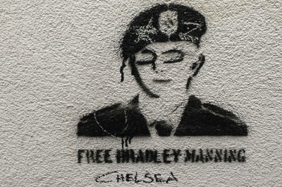 Graffito of Bradley or Chelsea Manning (adapted) (Image by smuconlaw [CC BY-SA 2.0] via flickr)