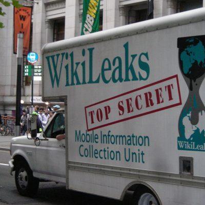 Occupy Wall Street WikiLeaks Truck (Image by pameladrew212 [CC BY 2.0] via Wikimedia Commons)