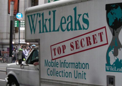 Occupy Wall Street WikiLeaks Truck (Image by pameladrew212 [CC BY 2.0] via Wikimedia Commons)