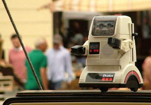 Tomy Chatbot (adapted) (Image by ☰☵ Michele M. F. [CC BY-SA 2.0] via flickr)