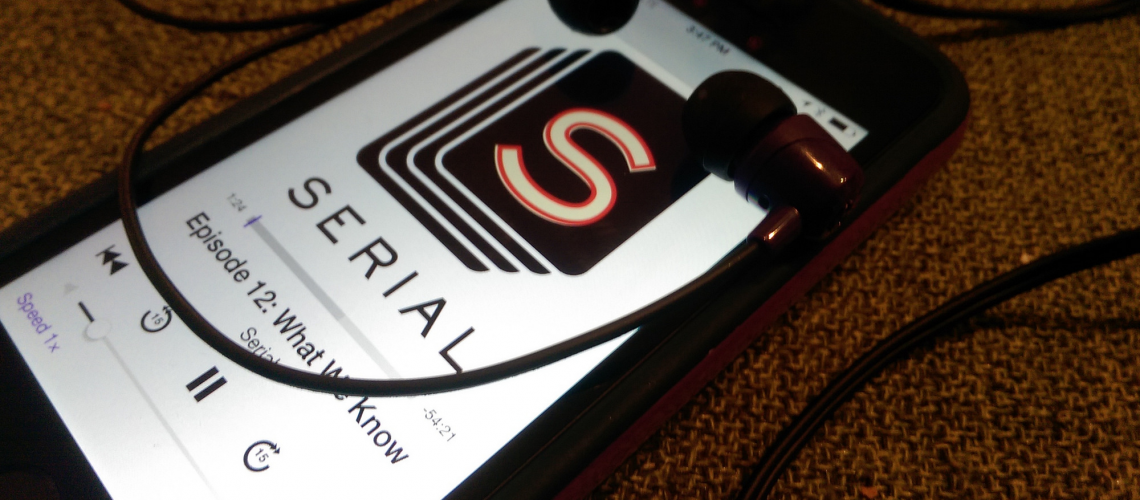 Serial Podcast (adapted) (Image by Casey Fiesler [CC BY 2.0] via Flickr)