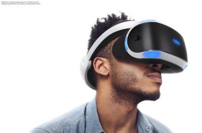 Virtual Reality, Brille, Mann, Gesicht, weißer Hintergrund, PlayStation VR