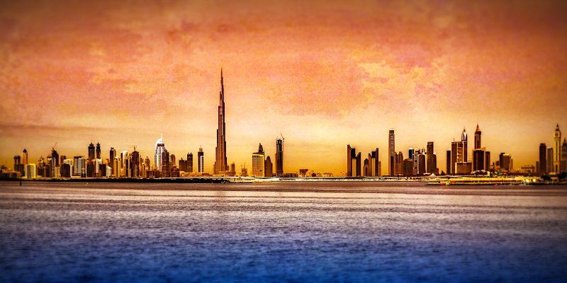 Dubai Skyline (adapted) (Image by Fariz Safarulla [CC BY-SA 20] via flickr)
