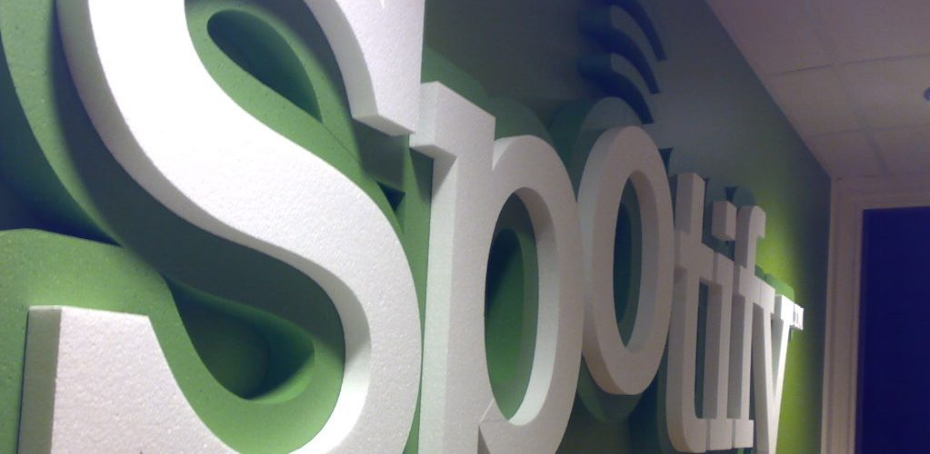 Spotify HQ (adapted) (Image by Sorosh Tavakoli [CC BY 2.0] via Flickr)