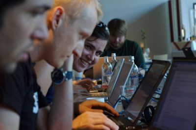 Hackathon (adapted) (Image by Andrew Eland [CC BY-SA 20] via flickr)