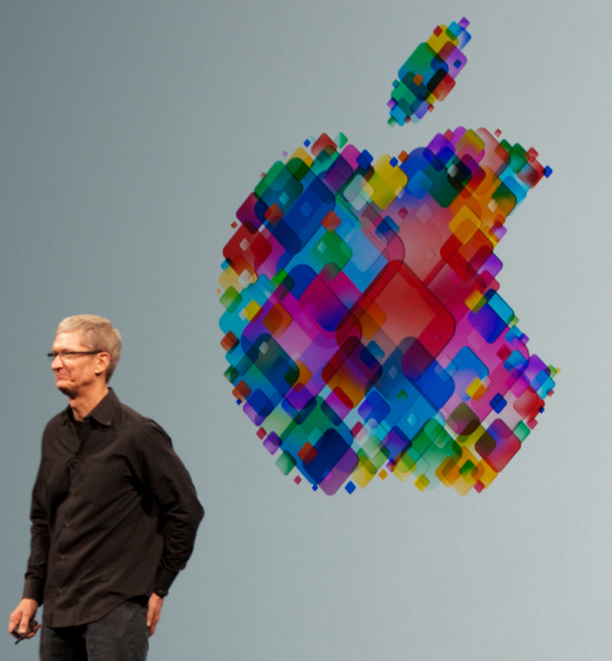 Apple CEO Tim Cook (adapted) (Image by Mike Deerkoski [CC BY 2.0] via Flickr)