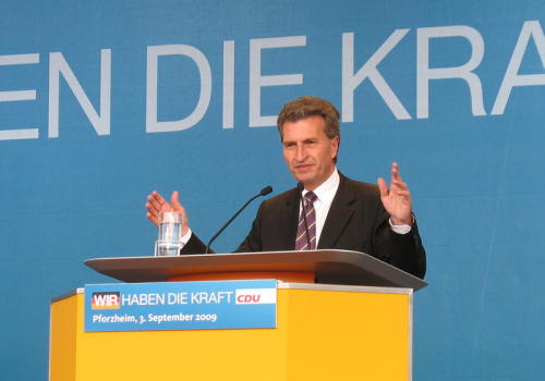 CDU-Wahlkampfveranstaltung in Pforzheim 2009 (adapted) (Image by Claas Augner [CC BY 2.0] via Flickr)
