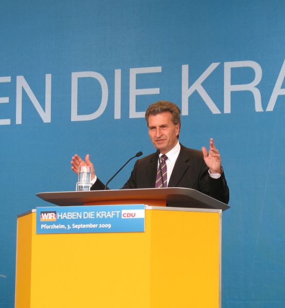 CDU-Wahlkampfveranstaltung in Pforzheim 2009 (adapted) (Image by Claas Augner [CC BY 2.0] via Flickr)