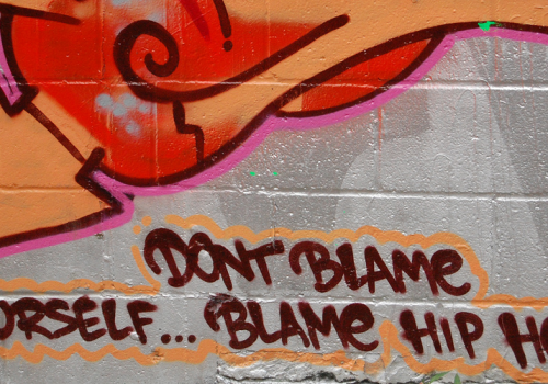 Don't Blame Yourself...Blame Hip-Hop (adapted) (Image by Angie Linder [CC BY-SA 2.0] via Flickr)
