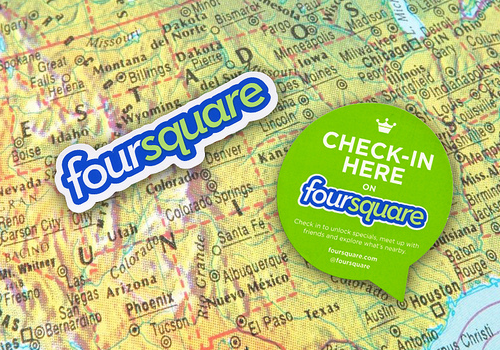 FourSquare (adapted) (Image by StickerGiant Custom Stickers [CC BY 2.0] via Flickr)