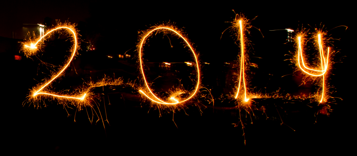 Happy New Year 2014 (adapted) (Image by Jon Glittenberg [CC BY 2.0] via Flickr)