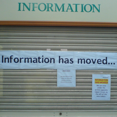 Information has moved (adapted) (Image by John [CC BY-SA 2.0] via Flickr)