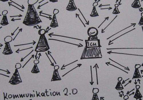 Kommunikation 2.0 (adapted) (Image by karinjanner [CC BY 2.0], via flickr)