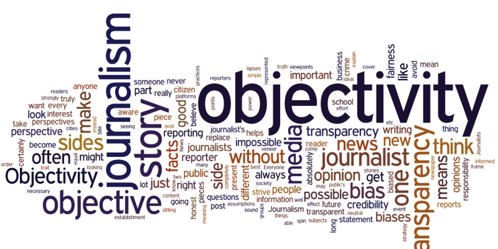 Objectivity in Journalism Wordle (adapted) (Image by Spot Us [CC BY-SA 2.0] via Flickr)