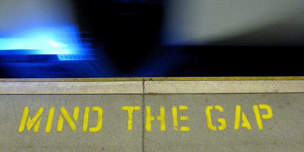 mind the gap (adapted) (Image by Pawel Loj [CC BY 2.0] via Flickr)